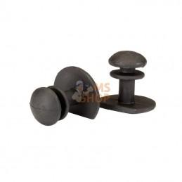 RBP104000201; GRIPLINE; Boutons longs pour protège-genou 10 pièces; pièce detachée