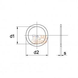 Rondelle 12,1x22x1