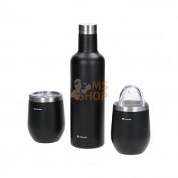 KRA00900019012; KRAMP; Ensemble verre et bouteille isotherme sous vide, noir; pièce detachée