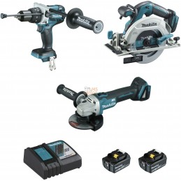 Ensemble de 3 machines 18 V Li-Ion 5 Ah  (DHP481 + DGA506 + DHS680) | MAKITA Ensemble de 3 machines 18 V Li-Ion 5 Ah  (DHP481 +