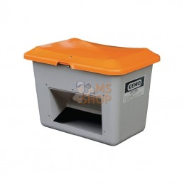 10572CEMO; CEMO; Bac à sable fibre de verre gris/orange 400L capacité 22,6kg 1210x820x680mm Cemo; pièce detachée