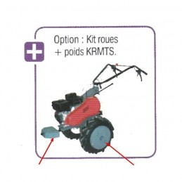 Kit roues + poids pour...