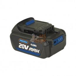 FP18051101; PRESSOL; Batterie au Li-Ion 20V 4Ah pour pistolet à graisse; pièce detachée
