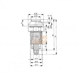 Motoculteur ISEKI SA600FE4-AH + brabant