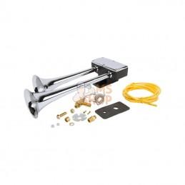 H00900CA; HADLEY; Dual horn kit ECE Zn/Cr; pièce detachée