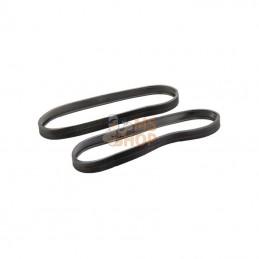 X55500050580; ROLLY TOYS; 2 bandes roulement p. 390x150; pièce detachée