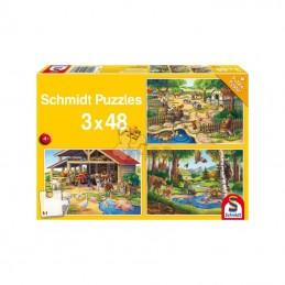 SH56203; SCHMIDT; Puzzle les animaux de ferme; pièce detachée