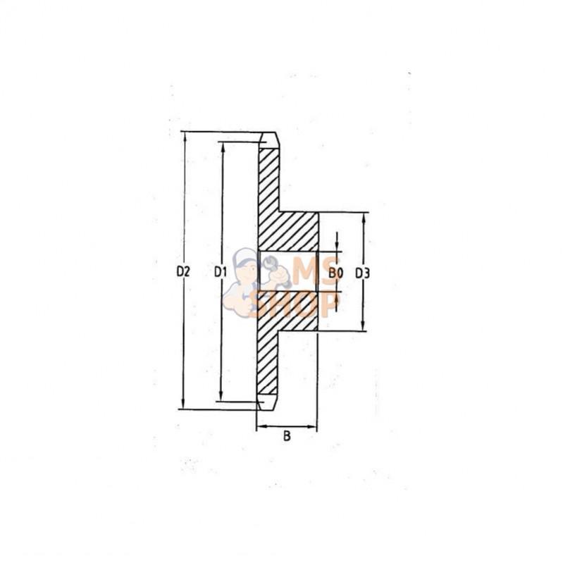 lame bilaterale adaptable pour stihl 820 mm. Black Bedroom Furniture Sets. Home Design Ideas