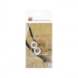 4002018; REMA TIP TOP; 4 écrous de valve à air et eau; pièce detachée