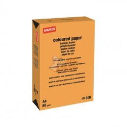 600314ST; STAPLES; Papier A4 orange 500B; pièce detachée