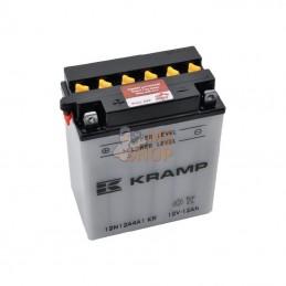 12N12A4A1KR; KRAMP; Batterie 12V 12Ah 165A avec pack d'acide Kramp; pièce detachée